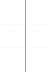 Blue Labels, 12 Per Sheet, 105 x 49.5mm