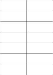 Blue Labels, 14 Per Sheet, 105 x 42.42mm