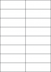 Blue Labels, 16 Per Sheet, 105 x 37.12mm