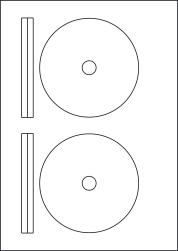 CD Labels & DVD Labels, 2 Per Sheet, 117mm Diameter, LPCD117