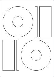 CD Labels & DVD Labels, 2 Per Sheet, 118mm Diameter, LPCD118P