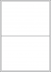 Coloured Paper Labels, 2 Per Sheet, 199.6 x 143.5mm, LP2/199 C