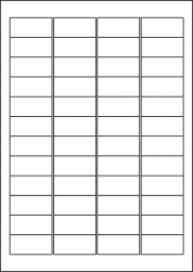 Coloured Paper Labels, 48 Per Sheet, 45.7 x 21.2mm, LP48/45 C