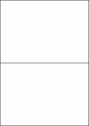 Cream Labels, 2 Per Sheet, 210 x 148.5mm