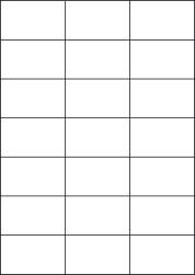 Cream Labels, 21 Per Sheet, 70 x 42.42mm