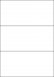 Gloss Transparent Labels, 3 Labels, 210 x 99mm, LP3/210 GTP