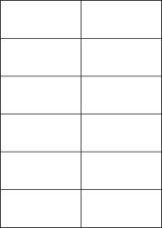 Gloss Waterproof Labels, 12 Per Sheet, 105 x 49.5mm, LP12/105 GWP