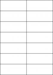 Gloss Waterproof Labels, 14 Per Sheet, 105 x 42.42mm, LP14/105 GWP