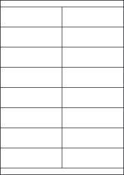 Gloss Waterproof Labels, 16 Per Sheet 105 x 34.95mm, LP16/105S GWP