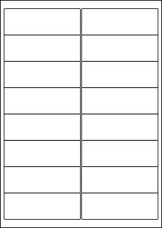 Gloss Waterproof Labels, 16 Per Sheet, 99.1 x 33.9mm, LP16/99 GWP