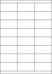 Gloss Waterproof Labels, 24 Per Sheet, 70 x 34.95mm, LP24/70S GWP