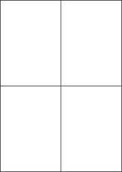 Gloss Waterproof Labels, 4 Per Sheet, 105 x 148.5mm, LP4/105 GWP