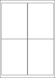 Gloss Waterproof Labels, 4 Per Sheet, 99.1 x 139mm, LP4/99 GWP