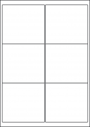 Gloss Waterproof Labels, 6 Per Sheet, 99.1 x 93.1mm, LP6/99 GWP