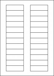 Green Labels, 24 Per Sheet, 72 x 21.15mm