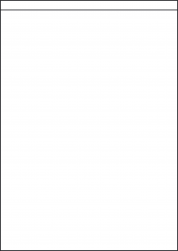 High Tack Paper Labels, 1 Per Sheet, 210 x 289mm, LP1/210S HT