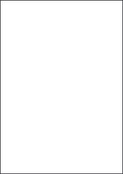 High Tack Paper Labels, 1 Per Sheet, 210 x 297mm, LP1/210 HT