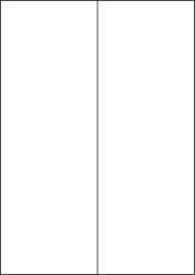 High Tack Paper Labels, 2 Per Sheet, 105 x 297mm, LP2/105 HT