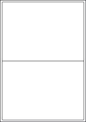 High Tack Paper Labels, 2 Per Sheet, 199.6 x 143.5mm, LP2/199 HT