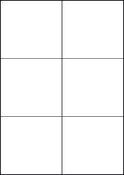 High Tack Paper Labels, 6 Per Sheet, 105 x 99mm, LP6/105 HT