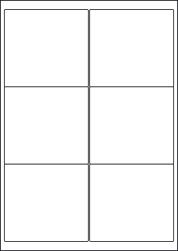 High Tack Paper Labels, 6 Per Sheet, 99.1 x 93.1mm, LP6/99 HT