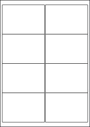 High Tack Paper Labels, 8 Per Sheet, 99.1 x 67.7mm, LP8/99 HT