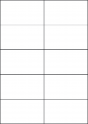 Kraft Paper Labels, 10 Per Sheet, 105 x 59.4mm, LP10/105 BRK