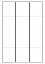 Kraft Paper Labels, 12 Per Sheet, 63.5 x 72mm, LP12/63 BRK