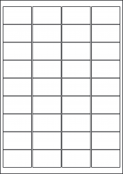 Kraft Paper Labels, 36 Per Sheet, 48.9 x 29.6mm, LP36/49 BRK