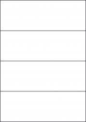 Kraft Paper Labels, 4 Per Sheet, 210 x 74.25mm, LP4/210 BRK