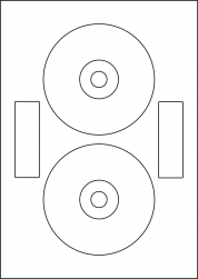 Laser Gloss CD Labels & DVD Labels, 118mm Diameter, LPCD118N GW