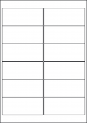 Laser Gloss Labels, 12 Per Sheet, 99.1 x 42.3mm, LP12/99 GW