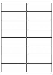 Laser Gloss Labels, 16 Per Sheet, 99.1 x 33.9mm, LP16/99 GW