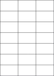 Laser Gloss Labels, 21 Per Sheet, 70 x 42.42mm, LP21/70 GW