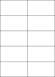 Laser Semi-Gloss Labels, 10 Per Sheet, 105 x 59.4mm, LP10/105 SG