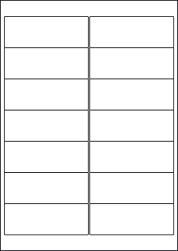 Laser Semi-Gloss Labels, 14 Per Sheet, 99.1 x 38.1mm, LP14/99 SG
