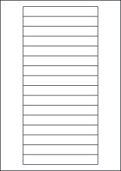 Laser Semi-Gloss Labels, 16 Per Sheet, 145 x 17mm, LP16/145 SG