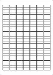 Laser Semi-Gloss Labels, 189 Per Sheet, 25.4 x 10mm, LP189/25 SG