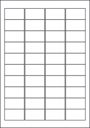Laser Semi-Gloss Labels, 40 Per Sheet, 45.7 x 25.4mm, LP40/45 SG