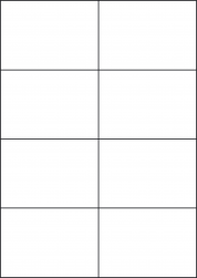 Laser Semi-Gloss Labels, 8 Per Sheet, 105 x 74.25mm, LP8/105 SG