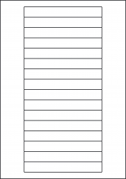 Laser Silver Paper Labels, 16 Labels, 145 x 17mm, LP16/145 LS