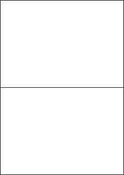 Laser Silver Paper Labels, 2 Labels, 210 x 148.5mm, LP2/210 LS