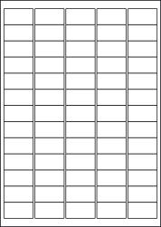 Matt Transparent Labels, 65 Per Sheet, 38.1 x 21.2mm, LP65/38 MTP