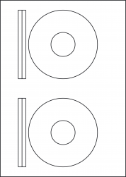 Orange CD & DVD Labels, 2 Per Sheet, 116mm Diameter