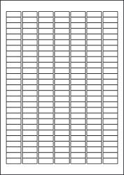 Orange Red Labels, 189 Per Sheet, 25.4 x 10mm