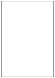 Paper Freezer Labels, 1 Per Sheet, 199.6 x 289.1mm, LP1/199 DF