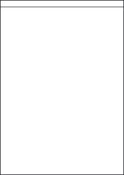 Paper Labels, 1 White Label Per Sheet, 210 x 287mm, LP1/210S