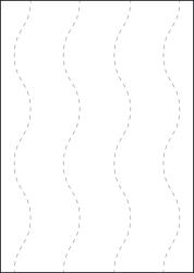 Paper Labels, 1 White Label Per Sheet, 210 x 297mm, LP1/210J