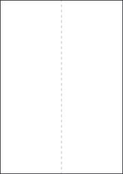 Paper Labels, 1 White Label Per Sheet, 210 x 297mm, LP1/210V