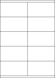 Paper Labels, 10 White Labels Per Sheet, 105 x 57.55mm, LP10/105S